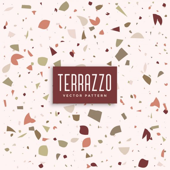 terrazzo marble floor pattern background