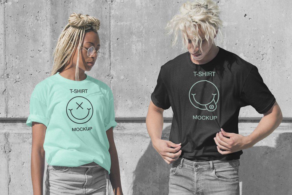 tshirt imprimé 1 couleur