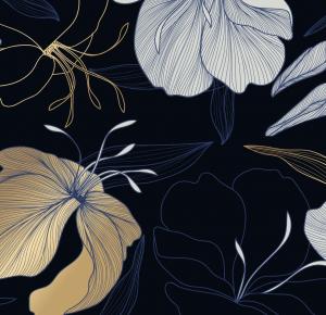 Blue flower night