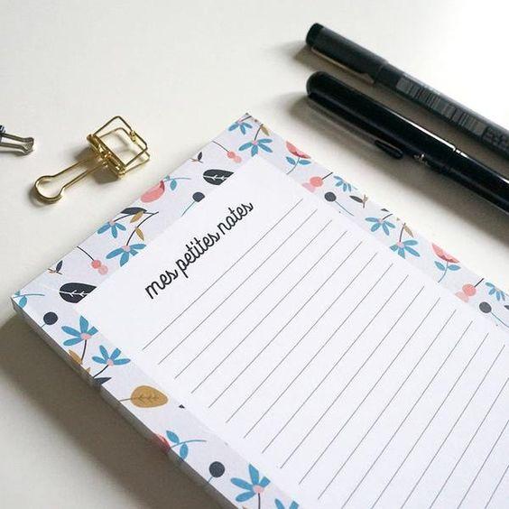 bloc note creatif personnalisé