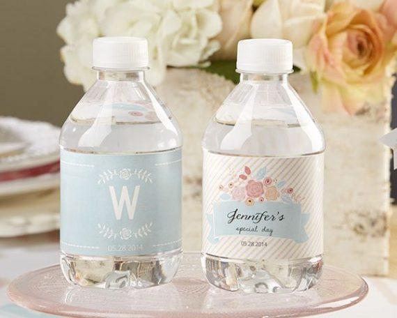 etiquette bouteille d'eau personnalisée