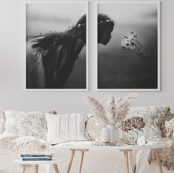 duo d'affiches petite fille boho