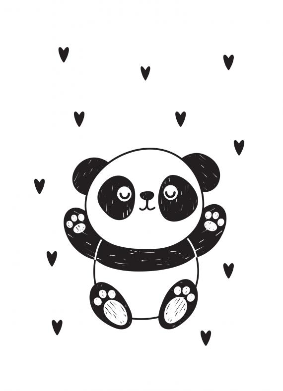 Petit panda coeur 13x18
