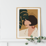 mockup Poster femme cheveux courts