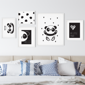 collection de poster enfant panda