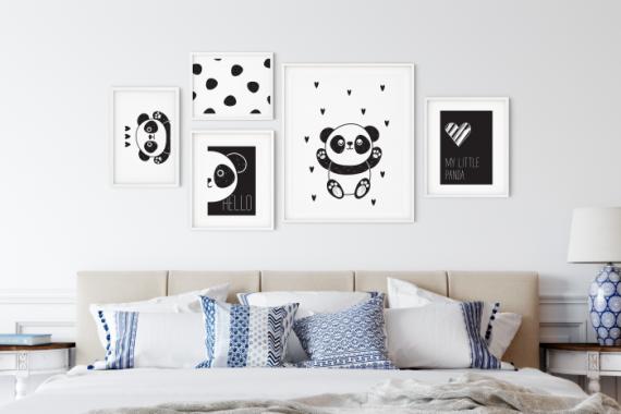 collection de poster enfant panda